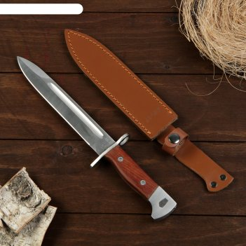 Сувенирный штык-нож, коричневая рукоять