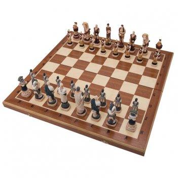 Шахматы спартак фигуры полистоун, король 13,5см, доска 58х58см польша