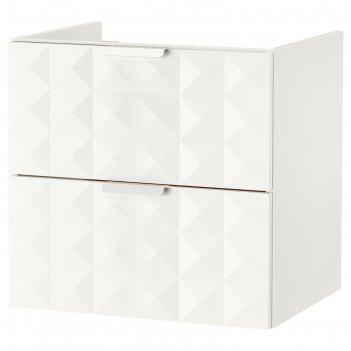 Шкаф для раковины годморгон, 2 ящика, 60x47x58 см, решён белый