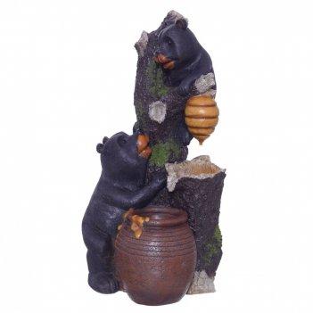 Фонтан декоративный медвежата, l34,79 w32,34 h70,56 см
