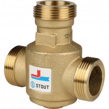 Клапан смесительный stout svm-0030-325506, 1 1/4 наружняя резьба, 60°с