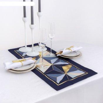 Дорожка на стол этель геометрия  30х70 см, 100% хл, саржа 190 гр/м2