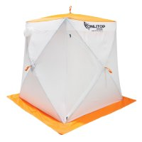 Палатка призма 150 (3-сл) стежка 210/100 стандарт композит, бело-оранжевая