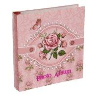 Фотоальбом магнитный 20 листов винтажная роза 24х22,5х4,5 см