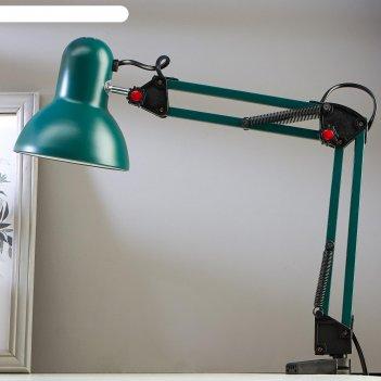 Настольная лампа на прищепке, 55 см, зеленая