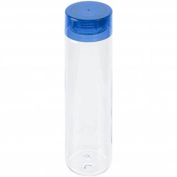 Бутылка для воды aroundy, прозрачная с синей крышкой