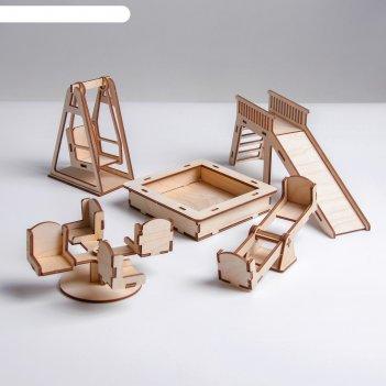 Конструктор. кукольная мебель детская площадка
