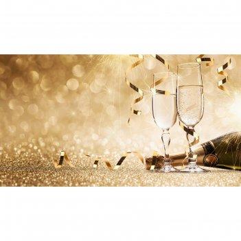 Фотобанер 300 х 200 см, с фотопечатью брызги шампанского
