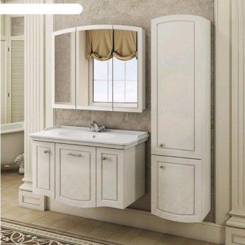 Шкаф-колонна comforty «палини-42», белый глянец