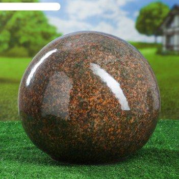 Садовый декор шар, зелёно-коричневый, 33 см