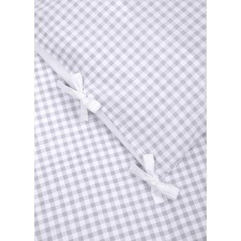 Комплект постельного белья (наволочка + пододеяльник) white & grey