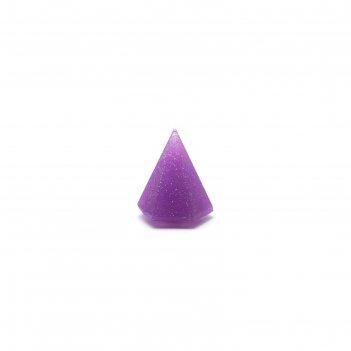 Силиконовый спонж tnl blender, пирамида, в пластиковой упаковке, цвет фиол