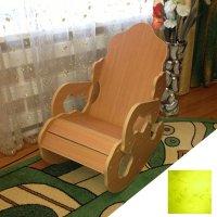 Кресло-качалка мини 74х47,5х87 см, цвет лайм тиснение цветы