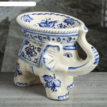 Ваза для конфет слон роспись, большая