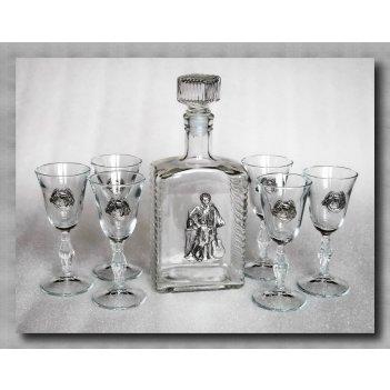 Набор для водки с рюмками  гусарский      арт. ншт110гс-56
