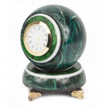 Часы шар антистресс змеевик 85х85х125 мм 1300 гр.