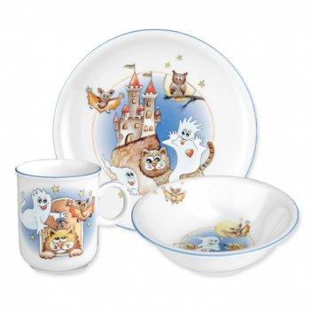 Сервиз детский 3 предм. casper (кружка, тарелка 20 см, салат