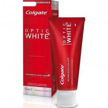 Зубная паста colgate optic white, искрящаяся мята, 75 мл