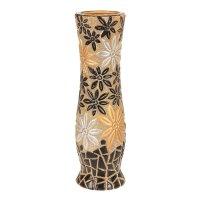 Ваза керамика напольная мозайка 60 см цветы (микс)