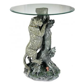 Напольная декоративная композиция леопард 40*29*66см