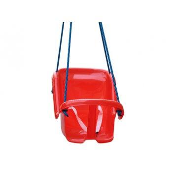 Т1660 качели большие с барьером безопасности, красные