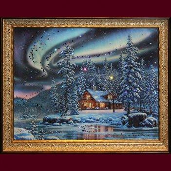 Картина сваровски - северное сияние
