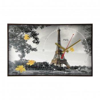 Часы настенные, серия: город,осенний париж ii, 37х60 см