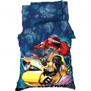 Постельное белье 1,5 сп transformers 143*215 см, 150*214 см, 50*70 см -1 ш