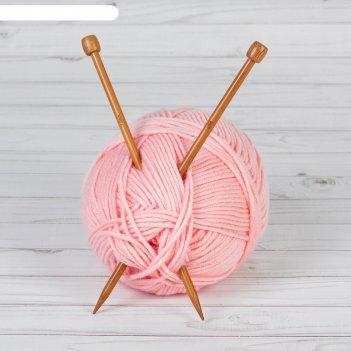 Спицы для вязания, прямые, d = 7 мм, 25 см, 2 шт