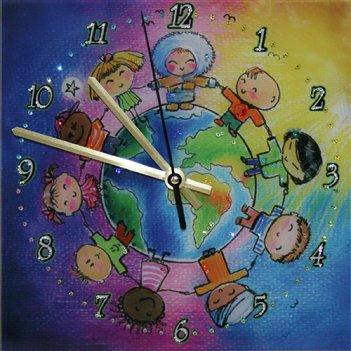 Картина сваровски - часы дружба народов