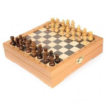 Мини-шахматы деревянные 22х22 (высота короля 4,7)