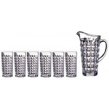 Набор для сока даймонд 7 пр.: кувшин+6 стаканов ...