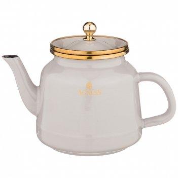 Чайник agness эмалированный, 1,0л подходит для индукц.плит