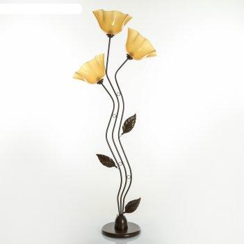 Торшер соцветие 3x40вт e27 коричневый