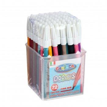 Фломастеры 72 цвета carioca doodles 2.2мм, (для детских садов) пластиковый