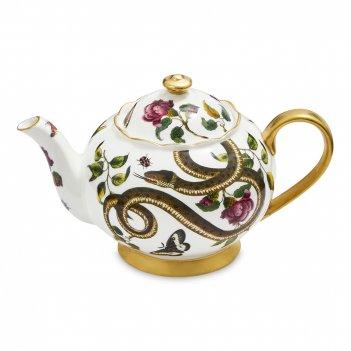 Чайник заварочный, объем:1,1 л, материал: фарфор, цвет: декор, серия диков