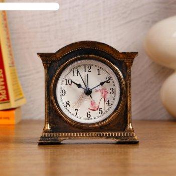 Часы-будильник фигурные пластик камин микс 3,5*10,5*10,5