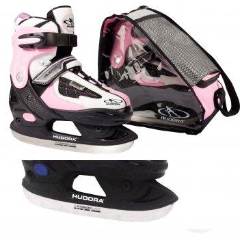 Раздвижные коньки hudora set hd розовые