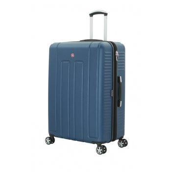 Чемодан wenger vaud синий, абс-пластик, 69 x 30 x 48  см, 99 л