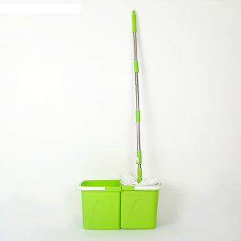 Набор для уборки уют, 3 предмета: ведро с отжимом, швабра, цвета микс