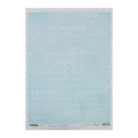 Рисовая бумага для декупажа голубой зиг-заг формат a3, 25г/м