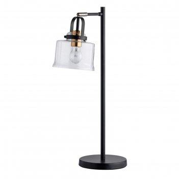Настольная лампа вальтер, 10вт e27, цвет чёрный, латунь