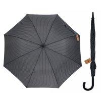 Зонт полуавтоматический «полоска», 8 спиц, r = 56 см, цвет чёрный