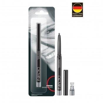 Карандаш для глаз demini, с точилкой, № 012 серебряная вуаль, перламутровы