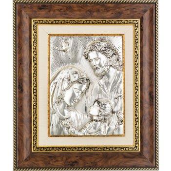 Панно настенное святое семейство 30*24 см багет 43*37*4 см