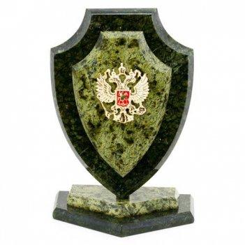 Сувенир щит большой змеевик