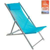 Кресло-шезлонг 134х60х100 см, цвет голубой