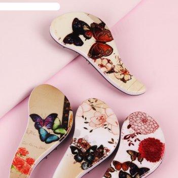 Расчёска массажная «бабочки», цвет микс