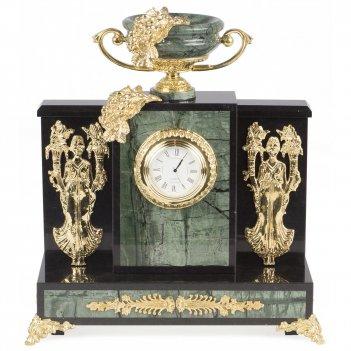 Часы изобилие офиокальцит 265х135х295 мм 6000 гр.