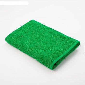 Полотенце махровое экономь и я 70*130 см зелёное яблоко, 100% хлопок, 340